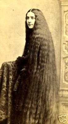 Miss Mary Sutherland, one of the 7 famous Sutherland Sisters, who had hair that was 6 foot long.