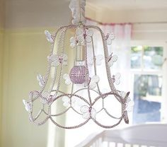 I love the Camille Butterfly Chandelier on potterybarnkids.com
