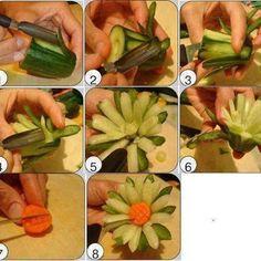 da una zucchina a fiore