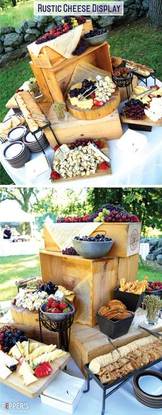 Rustic Cheese Display #peppersfinecatering                              …