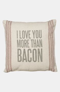 I love you more than bacon. LOL for Valentine's Day!