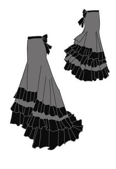 I have a skirt that already has a train, if I could add ruffles it would be an easy fix.