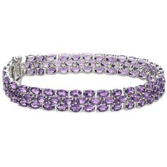 Blue Nile Trio Oval Amethyst Bracelet ($280) ❤ liked on Polyvore featuring jewelry, bracelets, amethyst, oval bangle, blue nile, amethyst jewelry, amethyst jewellery and blue nile jewelry