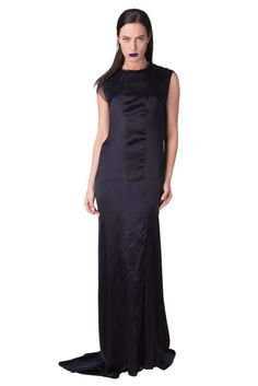 9a1831edf9 LANVIN Satin Maxi Dress Size 36 XS Silk Piping Draping Made in France   fashion  clothing  shoes  accessories  womensclothing  dresses (ebay link)