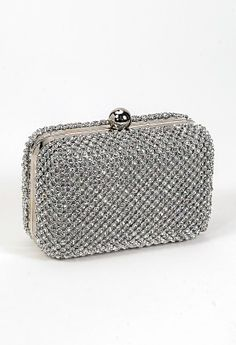 All Over Rhinestone Box Bag with Ball Top Closure from Camille La Vie and Group USA prom clutch