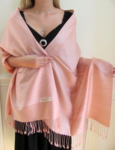 Peachy coral pashmina- great buy! http://www.yourselegantly.com/fashion-scarves-shawls-wraps-bridal-bridesmaids-shawls-fashion-peach-pashmina-silk-wrap-p-3915.html