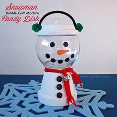Snowman Bubble Gum Machine
