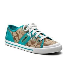 I want this color!! Coach sneakers #Dillards