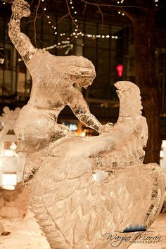 Have you ever seen an Ice Sculpture?  St Paul Winter Carnival