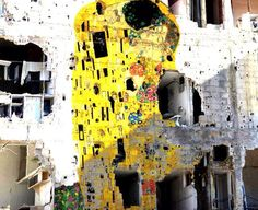 A museum in Syria bearing the destruction of war wears the magic of Klimt....
