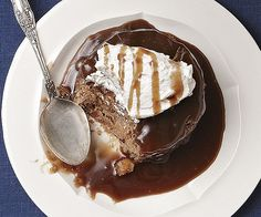 Banana and Walnut Sticky Pudding with Salted Caramel Sauce | Fine Cooking