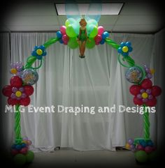 Tinker Bell Balloon Arch
