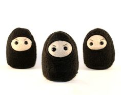 Miniature+Black+Ninja+Plush+by+SaintAngel+on+Etsy,+$10.00