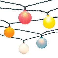 10ct Indoor/Outdoor Golf Ball String Lights : Target