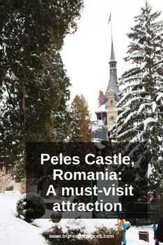 Discover Peles Castle, one of the most stunning and impressive castles in Romania, nestled at the foot of the Bucegi Mountains in the town of Sinaia. Peles Castle, Romania, Castles, Attraction, Holiday Decor, Winter, Travel, Winter Time, Voyage