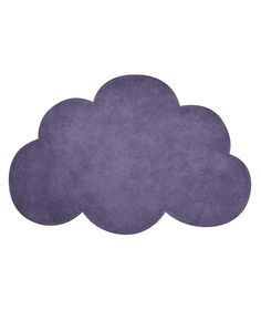 Tapis chambre de bébé de forme nuage couleur mauve