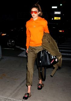 A bright future: Supermodel Gigi Hadid proved she isn't afraid to take a sartorial risk as she stepped out in New York City on Thursday