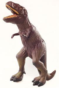 Green Rubber Toys T-Rex Raaaaaaaaaaaaa! not all toy dinos are made from plastic! :) #RubberDinosaur