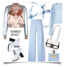 """""""Bomber Jacket"""" by ildiko-olsa ❤ liked on Polyvore featuring Valentino, Christopher Kane, Opening Ceremony, Osman, Versace and Chanel"""