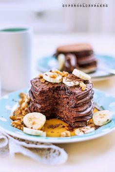 Double chocolate pancakes | supergolden bakes