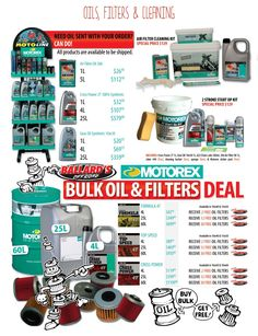 Bike - Engine - Oils, Filters & Cleaning - Ballard's Offroad