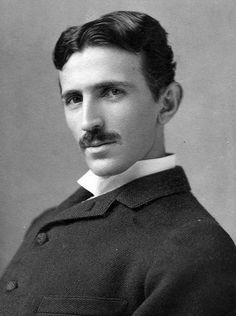 8 things you probably didn't know about Tesla from PBS. picture Nikola Tesla at age 34 (photo taken c. 1890)