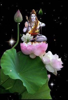Lord Shiva as adiyogi in creative art painting