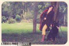Little Red & the wolf #littleredridinghood #fantasyphotoshoot #artphoto #bigbadwolf by @karenephotos