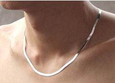 925 collar de plata esterlina hoja corta collar de clavícula accesorios de plata joyería plana cadena de la serpiente envío de caída libre en Cadenas de Joyería en AliExpress.com | Alibaba Group