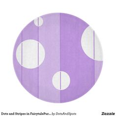 Dots and Stripes in FairytalePurple Cutting Board
