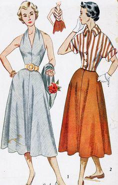 1950s Misses Halter Sundress and Jacket Vintage by MissBettysAttic, $15.00