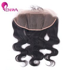 (US Stock) Free Part Brazilian Lace Frontal Closure 13x4 Body Wave Lace Frontal Bleacked Knots with Baby Hair