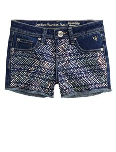 Allover Embellished Denim Shorts | Girls Shorts Clothes | Shop Justice