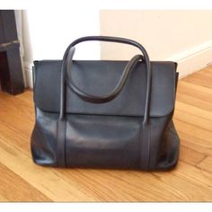Hermes Initiale bag designed by Martin Margiela in black evercalf.  (borrowed photo) And I would love to own one!