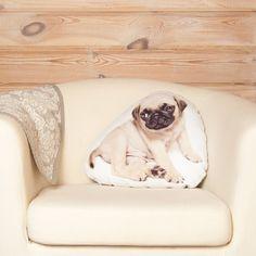 Pug Pillow linen decorative pillow pug cushion pug by Casacova Cute Pug Puppies, Cute Pugs, Gifts For Pet Lovers, Dog Lovers, Pug Pillow, Linen Fabric, Decorative Pillows, Cushions, Throw Pillows