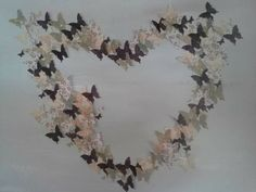 Butterfly Ombre Wall Art Mauve tones by artlandish on Etsy Butterfly Cutout, Butterfly Canvas, Types Of Butterflies, Cut Out Art, Ombre Effect, See Picture, Canvas Frame, Mauve, Different Colors