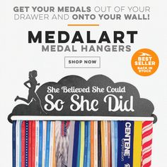 Tried and true, our MEDALART medal hangers are a way to display your race medals in your home or apartment and truly turn them into a piece of art! Make your medals a centerpiece that guests love to talk about, thanks to the MEDALART displays, which have something for every runner!
