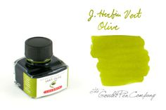 J. Herbin Vert Olive mixes well with other inks to add shading and a tint of green. Great blue/green with this and Private Reserve Electric Blue