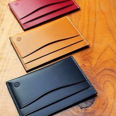 : 카드케이스들 #109공방 #109leathers #가죽공예 #leathercraft #leather #レザークラフト #皮革 #wallet #サイフ #지갑 #카드케이스 #cardcase #カードケース