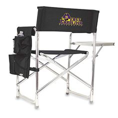 NCAA East Carolina Pirates Embroidered Sports Chair, Black, One Size