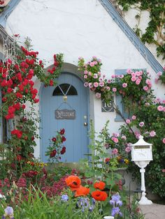 Roses over the doorway
