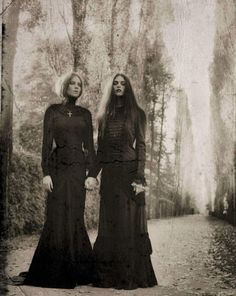 Signe Vilstrup. Dark, I know, but I love this! In dark times a twin, a sister, a friend is there......