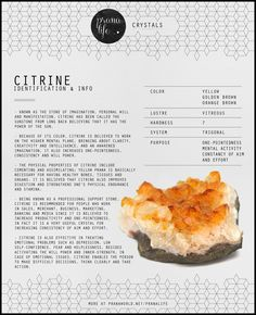 Known as the stone of imagination, will, constancy & one-pointedness of aim & effort, & manifestation, Citrine has been called the Sun-Stone from long back. Crystal Healing Stones, Crystal Magic, Stones And Crystals, Gem Stones, Wicca Crystals, Healing Rocks, Crystal Guide, Chakra Crystals, Clear Quartz Crystal