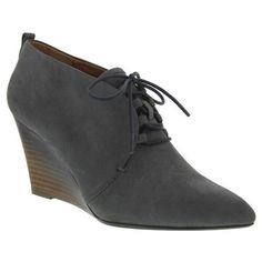 Nina Originals Angeline Wedge Booties (2,730 MXN) ❤ liked on Polyvore featuring shoes, boots, ankle booties, slate milan, lace up ankle boots, short boots, lace up bootie, lace up wedge booties и lace up wedge bootie