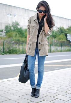 Shop this look on Kaleidoscope (coat, jeans, purse, sunglasses)  http://kalei.do/WTF7iAswimGie9MR