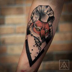 """""""Fox Chef!!! #fox #tattoaria #chef #maxvorax #maxwellalves"""""""