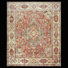 Turkish Decorative - Oushak    Circa: 1880    Color: Red    Origin: Turkey    Width: 14' 0'' ( 426.7 cm )    Length: 16' 6'' ( 502.9 cm )Stock Id: #18982