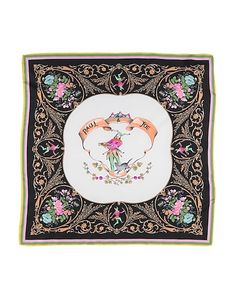 Paul & Joe Women Square Scarf on YOOX. The best online selection of Square Scarves Paul & Joe. YOOX exclusive items of Italian and international designers - Secure payments New Sign, Square Scarf, Bag Accessories, Initials, Floral Design, Tapestry, Paul Joe, Logo, Black