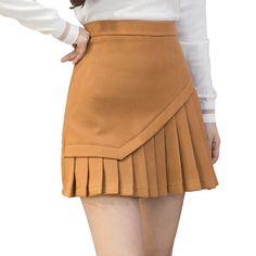 Online Shop Woolen Pleated Skirt Women Korean Fashion High Waist Sexy Mini Skirts Black Gray Khaki   Aliexpress Mobile Skirt Outfits, Casual Outfits, Fashion Outfits, Womens Fashion, Steampunk Fashion, Gothic Fashion, Gothic Steampunk, Steampunk Clothing, Fashion Ideas