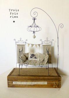 Fil de fer, wire, lit fil de fer, trois fois rien, un p'tit coin pour rêver II (1)